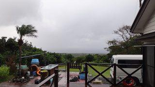 風も強まり冷たい雨は降りやまずだった12/11の八丈島