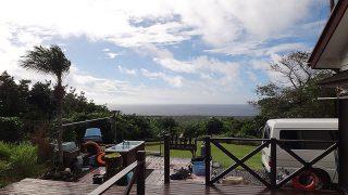 風は強まり雨も降り荒れた天気となるが暖かくもなっていた12/12の八丈島