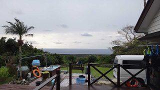 風は緩めで空には雲も広がっていた12/26の八丈島