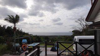 うっすら雲は広がるが青空も見られていた1/11の八丈島