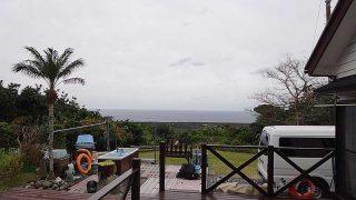 雲は残るが風は収まり穏やかな天気となっていた1/12の八丈島