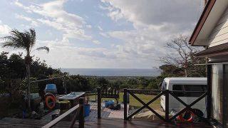 次第に風は強まるが日中は暖かくもあった1/28の八丈島