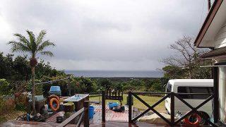 荒れた天気は時間と共に穏やかになってきていた1/29の八丈島