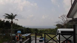 一時雨は降るものの青空も広がっていた4/8の八丈島