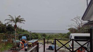 冷たい雨も降っていて風も強まり荒れた天気となっていた4/10の八丈島