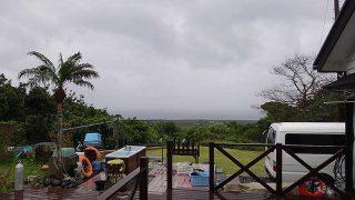 一旦雨は止むものの冷たい雨が降り続いていた4/12の八丈島