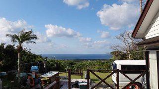 風は冷たい感じもあるが日中は暖かさが戻ってきてた4/13の八丈島