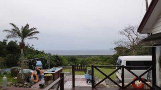次第に雲は厚みも増して雨も降ってきていた4/17の八丈島