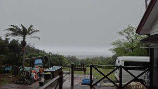 湿度も高く引き続き雲が低く降りてきていた4/26の八丈島