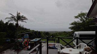 パラパラと雨は降ったり止んだりだった5/15の八丈島
