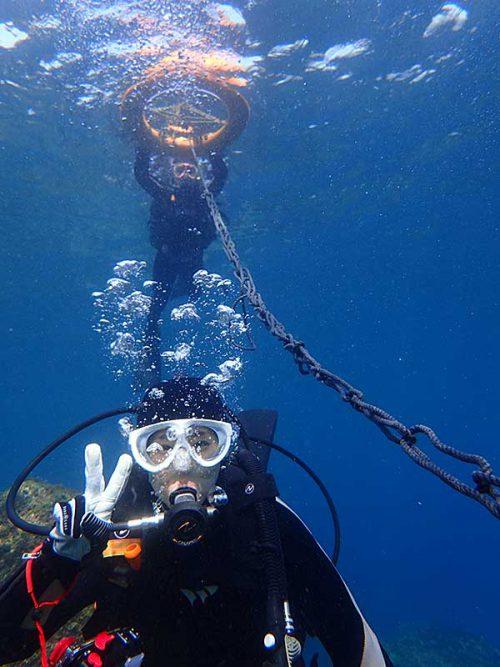 潜れるひとは潜りつつちょっと泳いでいって