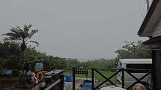 早めのうちは雨風強まっていた5/29の八丈島