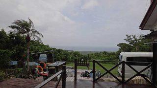 強めの雨はすぐに上がって青空広がってきていた6/8の八丈島