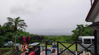 次第に雨は強まって肌寒くもなっていた6/23の八丈島