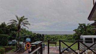時間ともに雨は上がって青空も見られてきていた6/24の八丈島