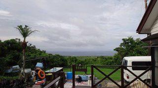 断続的に強めの雨が降ってきていた7/5の八丈島