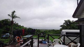 北寄りの涼しい風になるものの雨は上がっていた7/8の八丈島
