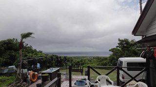 早めのうちは雲は多いが次第に青空見られていた7/10の八丈島