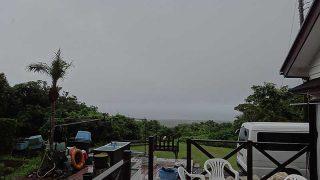 次第に風暖かく気温も上がってきていた7/12の八丈島