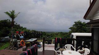 時間ともに青空広がり気温も上がっていた7/16の八丈島