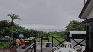 早めは雨も降るものの日中は青空広がっていた7/18の八丈島