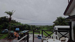 激しい雨は降るものの、次第に空は明るくなっていた7/19の八丈島