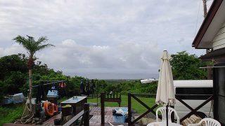 少し雲は多いが青空あって暑さも続いていた7/21の八丈島