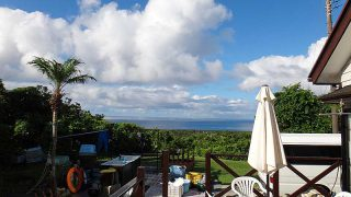 一時雨は降るもののすぐに青空は広がってきていた8/3の八丈島