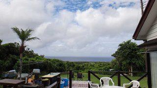 早めのうちは風も強くて雲も増えていた8/5の八丈島