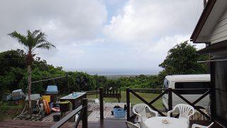 雲は多めで湿度も高く蒸し暑い一日となっていた8/13の八丈島