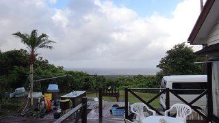 時折風は強くもあるが日中は晴れ間もあった8/14の八丈島