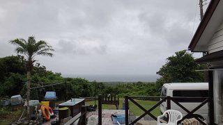雲は多めで変わりやすい空模様となっていた8/15の八丈島