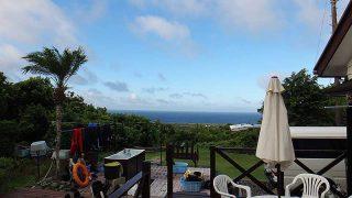 概ね晴れで暑くもあるが一時雨も降っていた8/31の八丈島