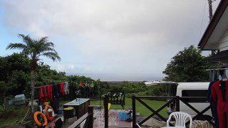 パラパラ雨は落ちてはくるが概ね晴れて暑くもあった9/7の八丈島