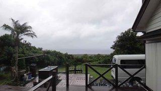 雨風強まり次第に荒れた天気となっていた9/8の八丈島