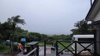 時々雨も降ってはくるが空は明るくもあった9/20の八丈島