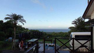 青空も広がりだして暑さも戻ってきていた9/23の八丈島