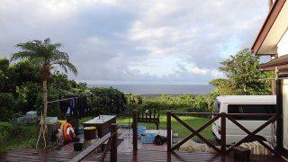 早めのうちは雨も降るが青空も広がっていた9/24の八丈島