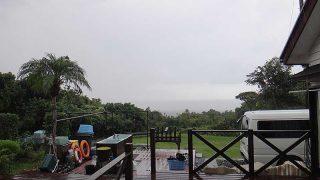 雨から晴れへ天気は一気に回復してきていた10/8の八丈島
