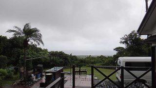 降る雨激しくあるものの晴れ間も見られていた10/10の八丈島