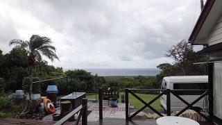 風は涼しく次第に雲は増えてもきていた10/15の八丈島