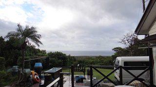 日中晴れ間もあるものの雨は降ったり止んだりだった10/17の八丈島