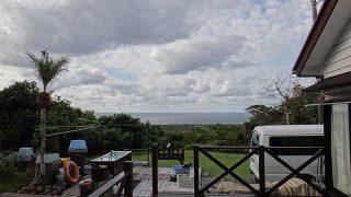 雲の合間からは青空も見られ爽やかな一日となっていた10/26の八丈島