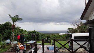 雲は広がり時折雨も降ってきていた10/28の八丈島