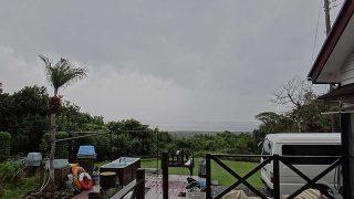 土砂降りの雨も降ってきていた10/29の八丈島