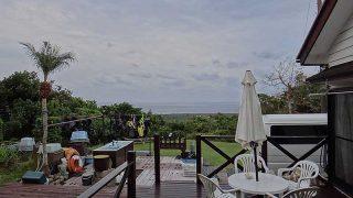 青空あるが雨も降り落ち着かない空模様となっていた11/4の八丈島