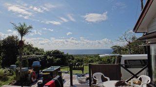 早めのうちは雨も残るが青空が広がってきていた11/11の八丈島
