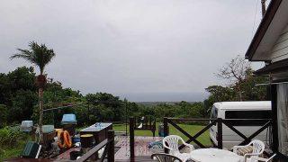 次第に風は弱まるが雨も降り出し荒れた天気となっていた11/14の八丈島
