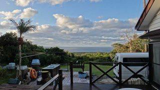 寒さは続くが爽やかな青空も広がっていた11/30の八丈島