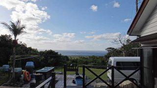 西風強く吹いてきて冬の天気が戻ってきていた12/3の八丈島
